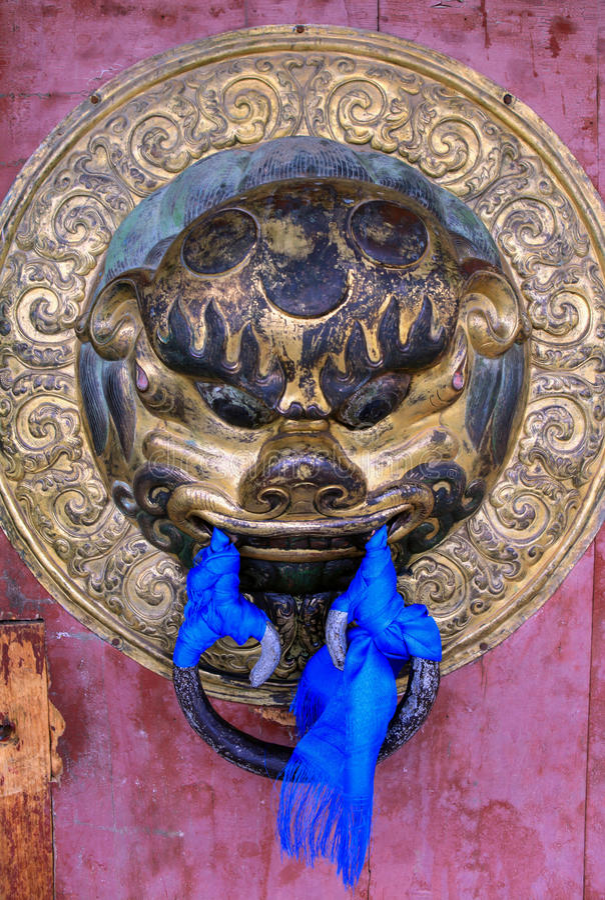 Kharkhorin Erdenzuu修道院,蒙古建筑学  免版税库存图片