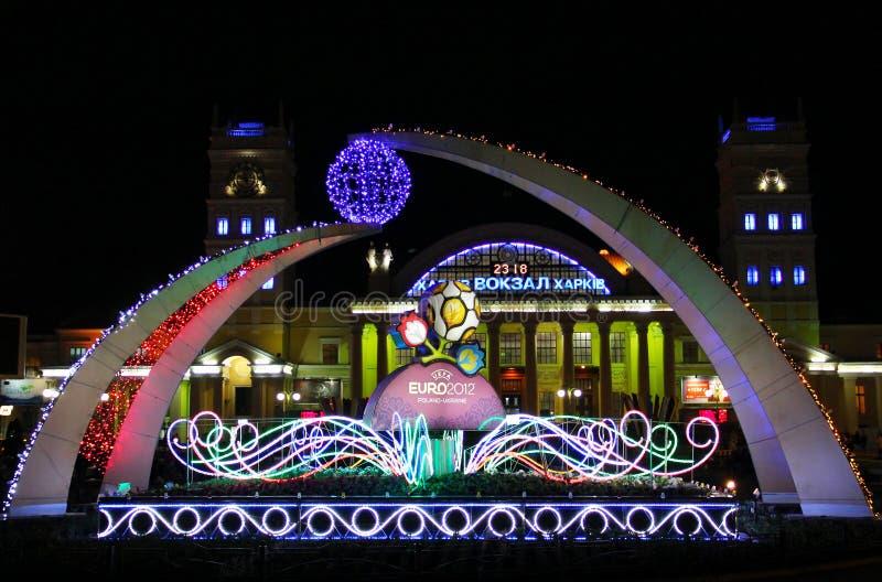 Kharkiv 2012 euro powitania fotografia stock