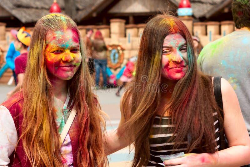 Download Kharkiv, Ukraine - April 24, 2016. Group Of Happy Girls On Holi Festival Editorial Stock Photo - Image: 90744283