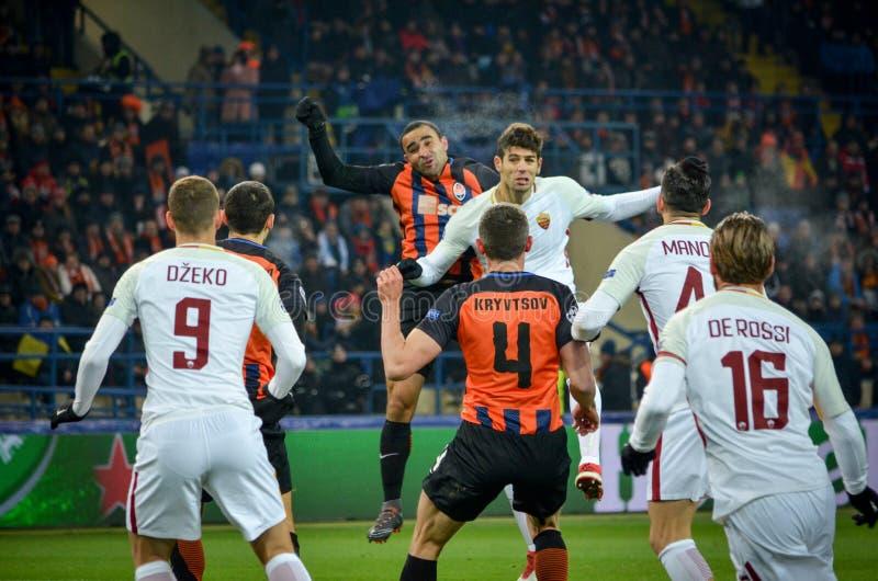 KHARKIV, UKRAINE - FEBRUARY 21, 2018: Federico Fazio during UEFA Champions League match between Shakhtar Donetsk vs AS Roma at OS. K Metalist stadium, Ukraine stock photos