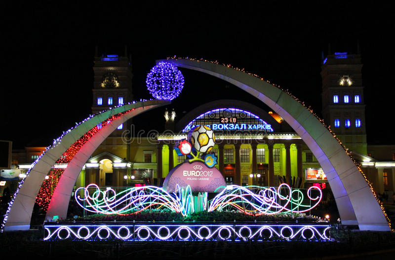 Kharkiv welcomes Euro-2012 stock photography