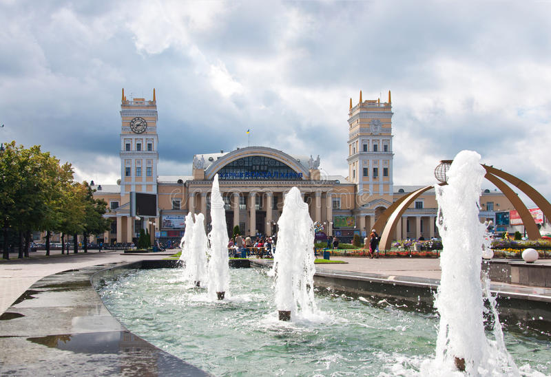 kharkov södra stationsterminal ukraine royaltyfri fotografi