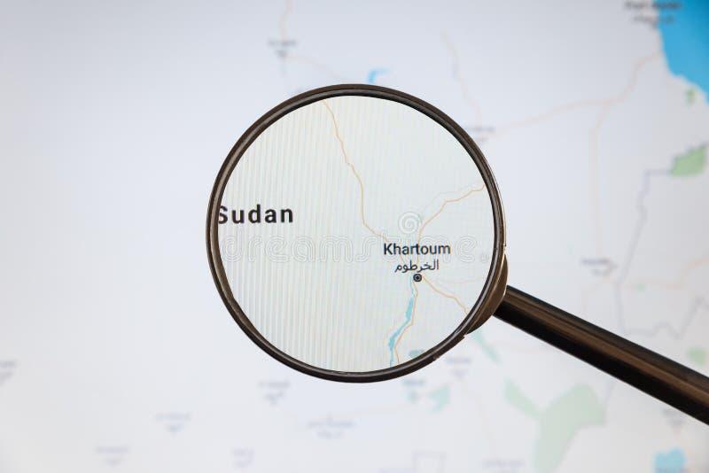 Khartoum, Sud?n correspondencia pol?tica imagenes de archivo