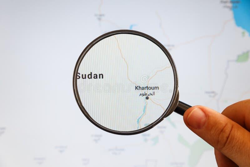 Khartoum, Sud?n correspondencia pol?tica imágenes de archivo libres de regalías