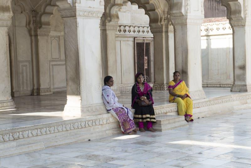 Khas Mahal à l'intérieur de fort d'Âgrâ l'Inde photos libres de droits
