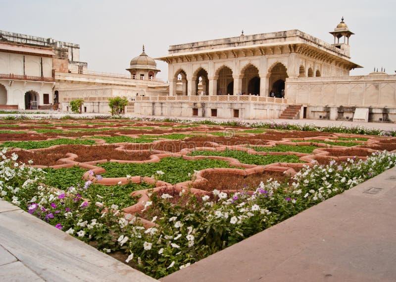 Khas Mahal e jardim do revestimento fotografia de stock