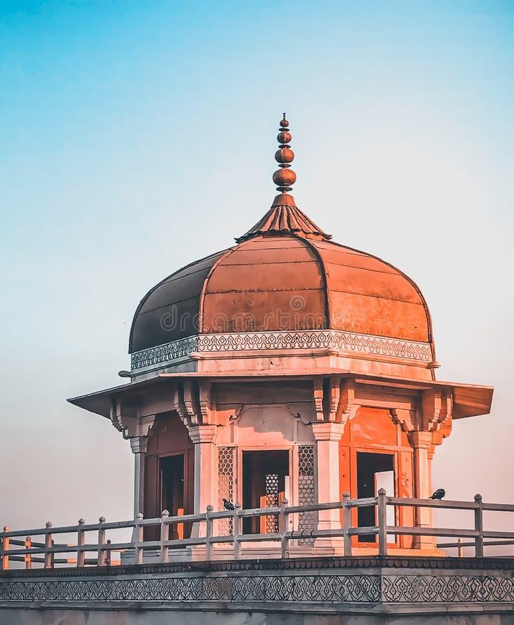 Khas Mahal no forte de Agra, Índia fotografia de stock royalty free