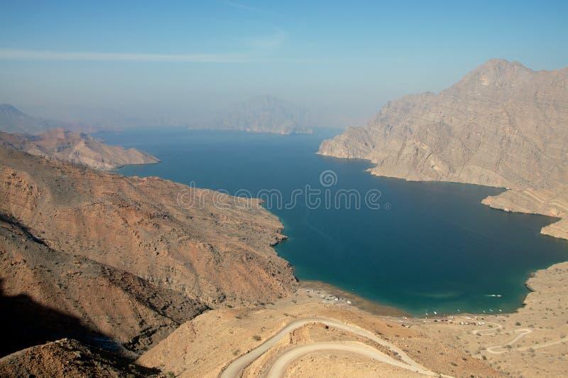 Khasab strand i Oman royaltyfria bilder