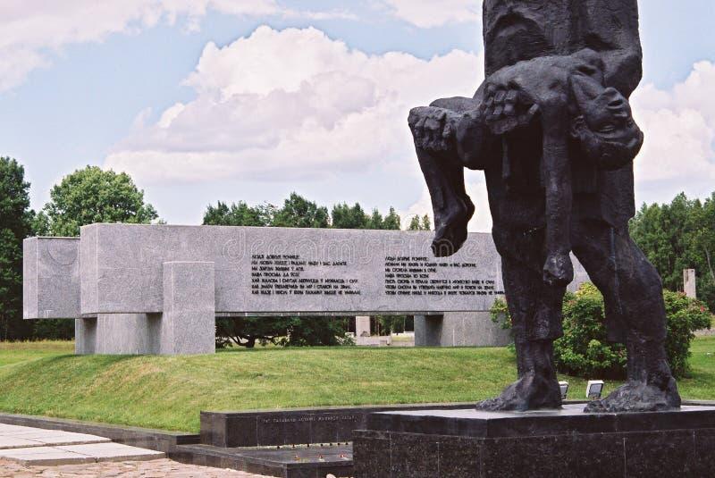 Khatyn, Λευκορωσία, στις 21 Ιουλίου 2008: Αναμνηστικός σύνθετος σε Khatyn στοκ εικόνα με δικαίωμα ελεύθερης χρήσης