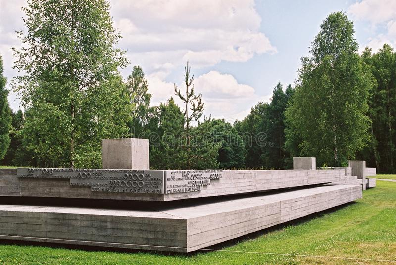 Khatyn, Λευκορωσία, στις 21 Ιουλίου 2008: Αναμνηστικός σύνθετος σε Khatyn στοκ εικόνες