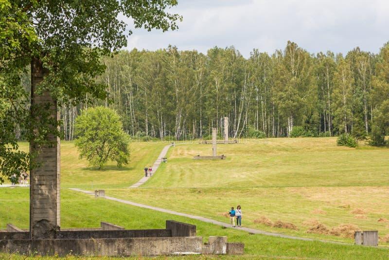 KHATYN, complejo conmemorativo de BIELORRUSIA imagen de archivo libre de regalías