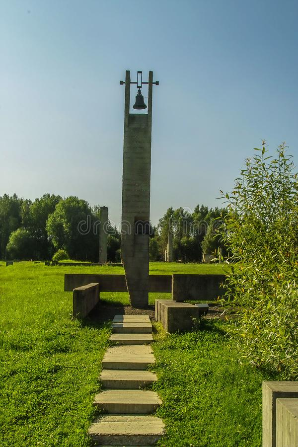 Khatyn memorial complex in the Republic of Belarus. royalty free stock image