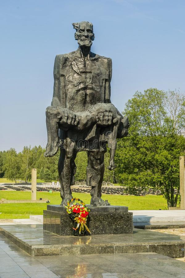 Khatyn pamiątkowy kompleks w republice Białoruś obraz royalty free