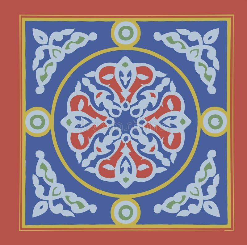 Khayamia arabisk folkloric design royaltyfri foto