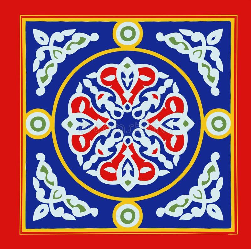 Khayamia arabisk folkloric design royaltyfri illustrationer