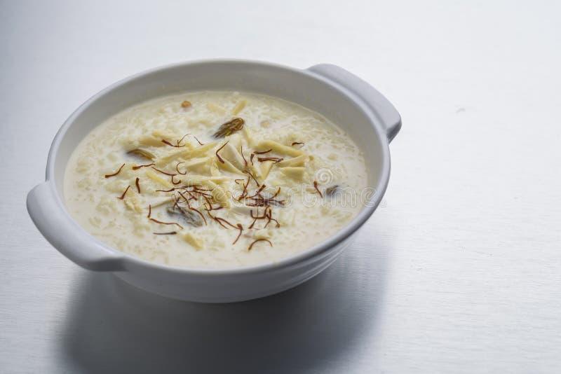 Kheer, ryżowy pudding lub deser zdjęcie stock