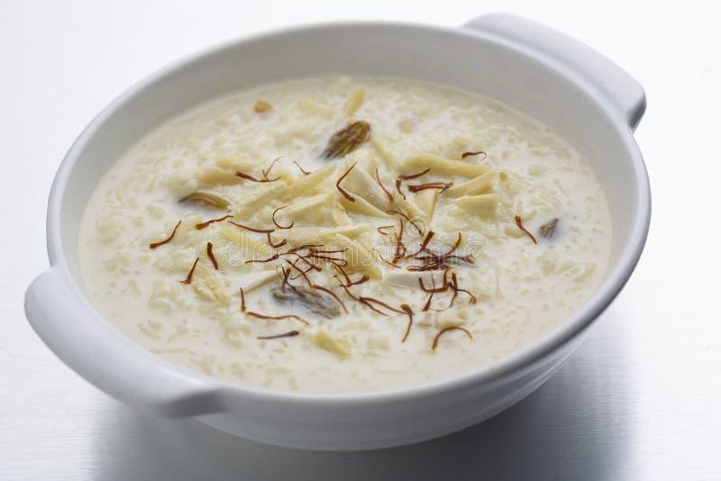 Kheer, ryżowy pudding lub deser zdjęcie royalty free