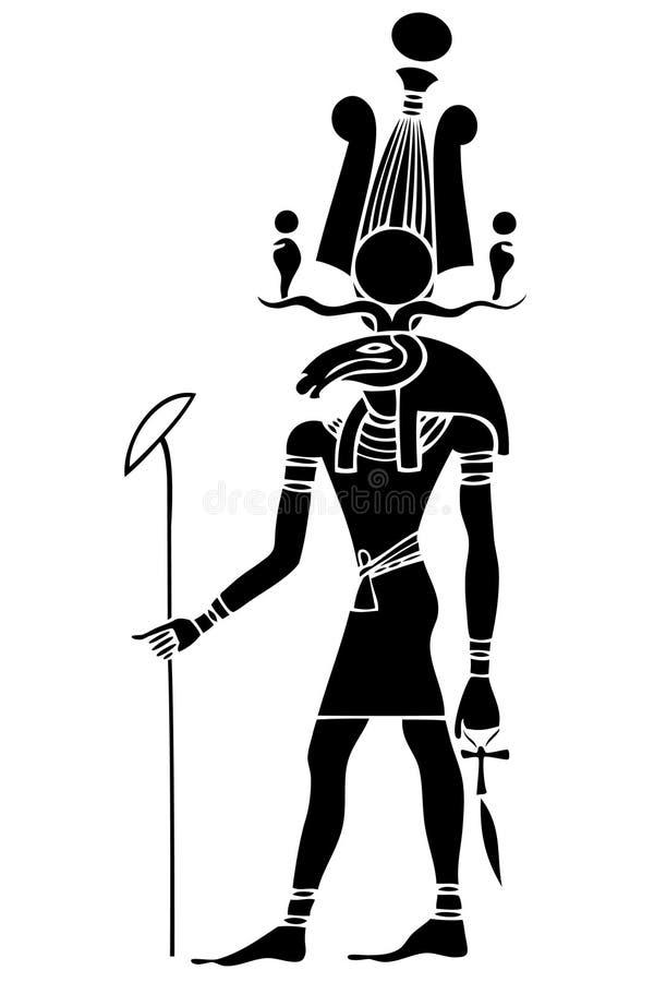 Khensu - dios de Egipto antiguo ilustración del vector