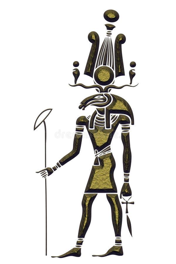 Khensu - God van oud Egypte stock illustratie