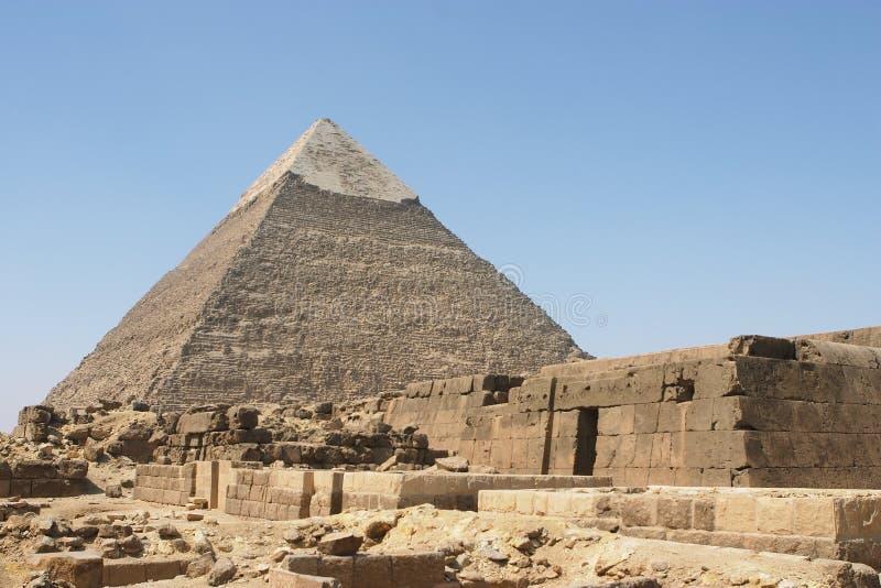 khephren pyramid s royaltyfri bild