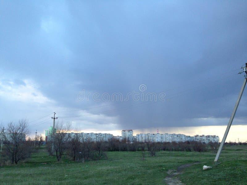 Kherson chuvoso foto de stock royalty free