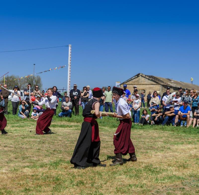 Kherson, Republicanets-Dorf, Nationalpark Kam-` janska Sich, lizenzfreies stockfoto