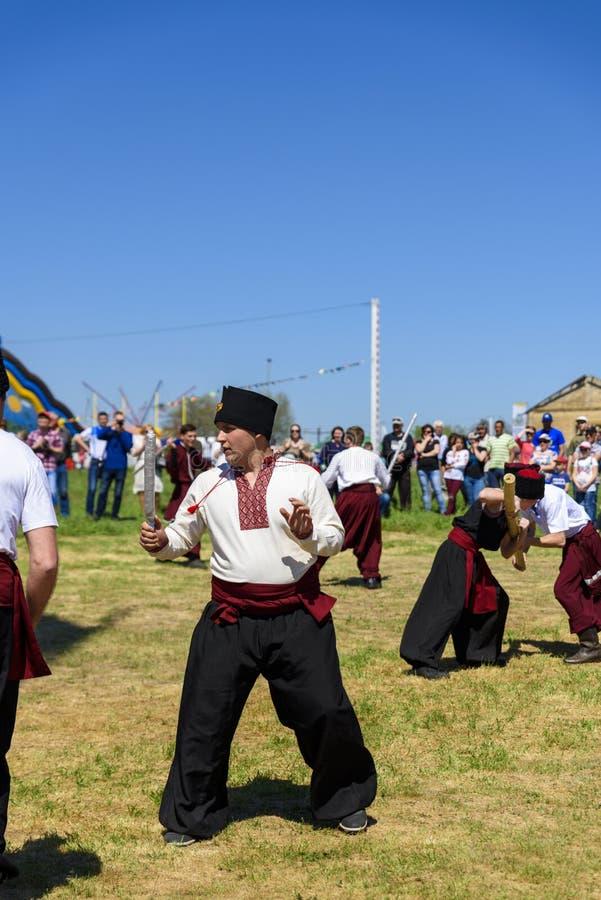 Kherson, Republicanets-Dorf, Nationalpark Kam-` janska Sich, stockfotos