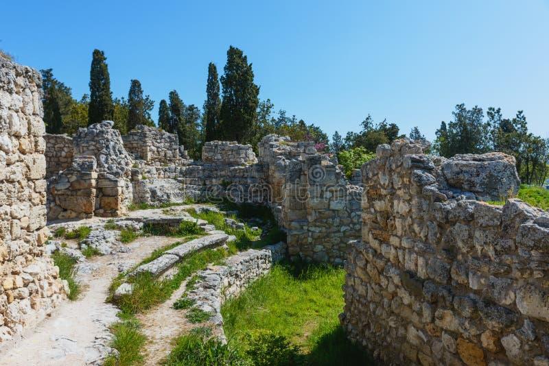 Khersones- Nationaal archeologisch park stock fotografie