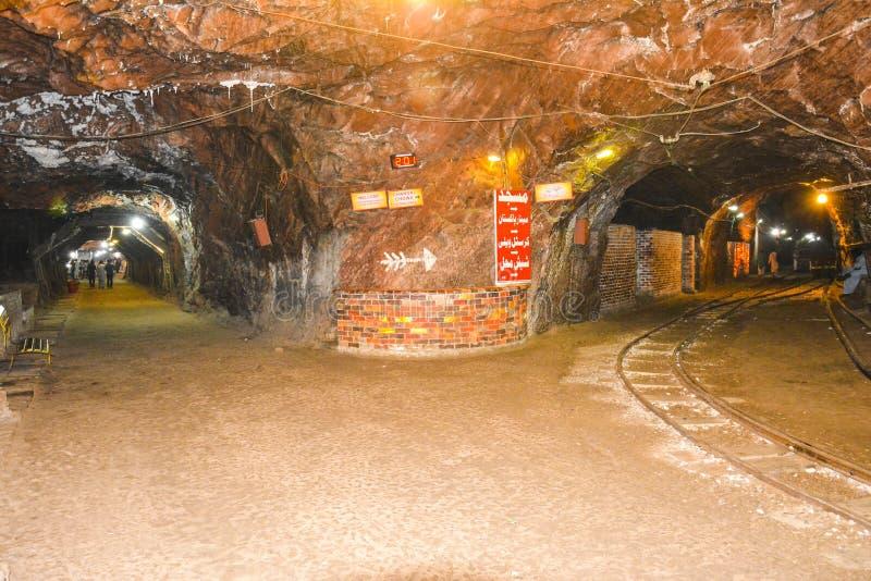 Khewra盐矿里面看法  库存照片