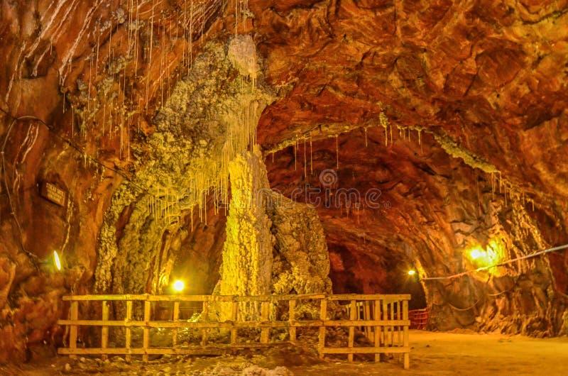 Khewra Salt Mine Pakistan. Khewra Salt Mines are the World`s second biggest Salt Mines stock photos