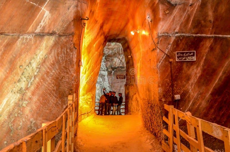 Khewra Salt Mine Pakistan. The World`s second biggest Salt Mines stock photography