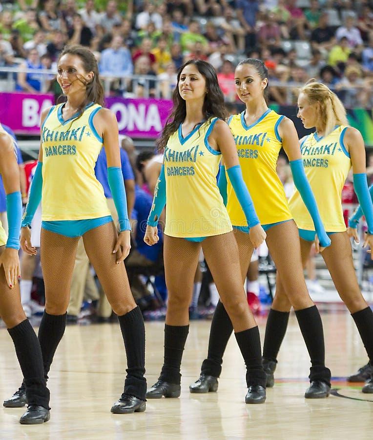 Khimki Dancers cheerleaders stock image