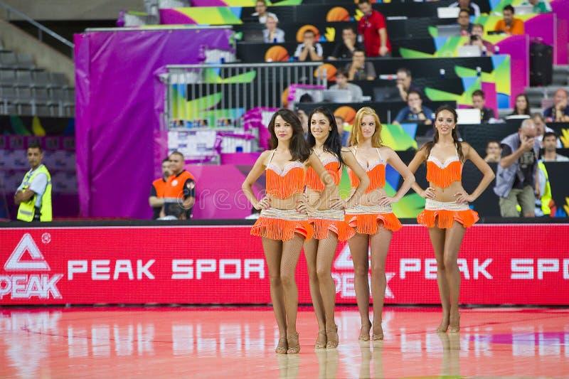 Khimki Dancers cheerleaders royalty free stock images
