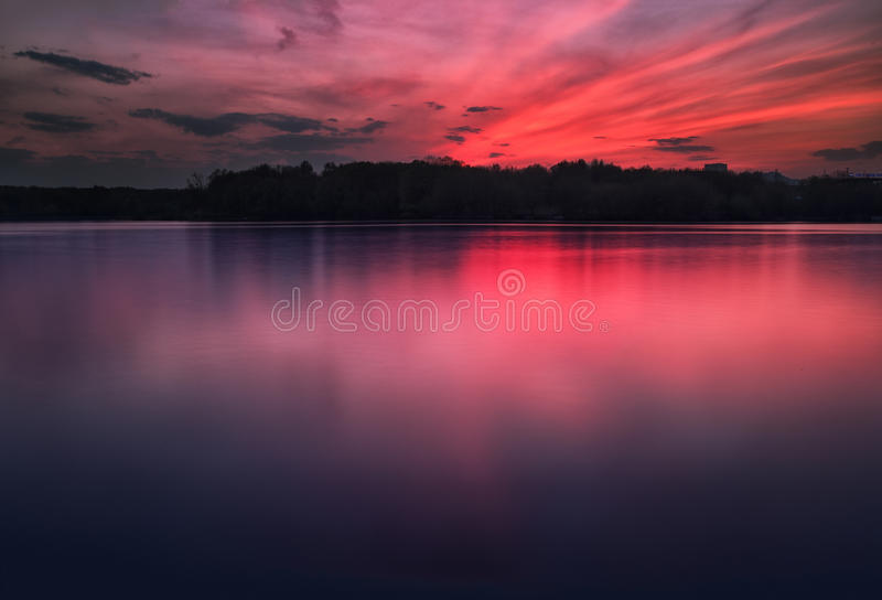 Khimki Reservoir royalty free stock photos