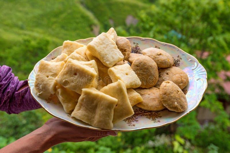 Khinkal är den traditionella maträtten av Dagestan kokkonst royaltyfri bild