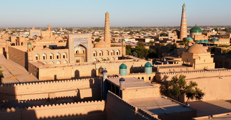 Khiva晚上视图  免版税库存图片