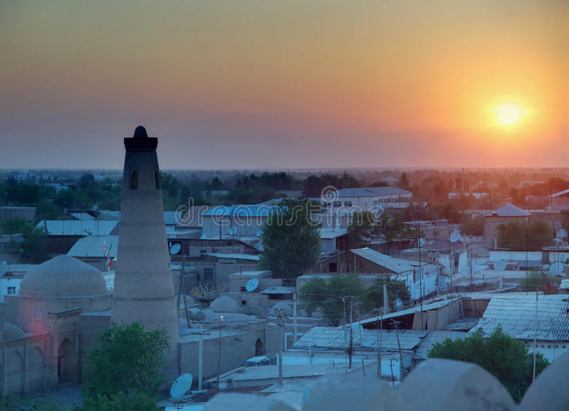 Khiva στο ηλιοβασίλεμα στοκ εικόνες με δικαίωμα ελεύθερης χρήσης