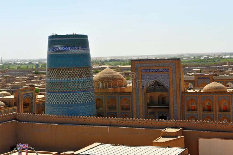 Khiva: architettura medievale immagine stock libera da diritti
