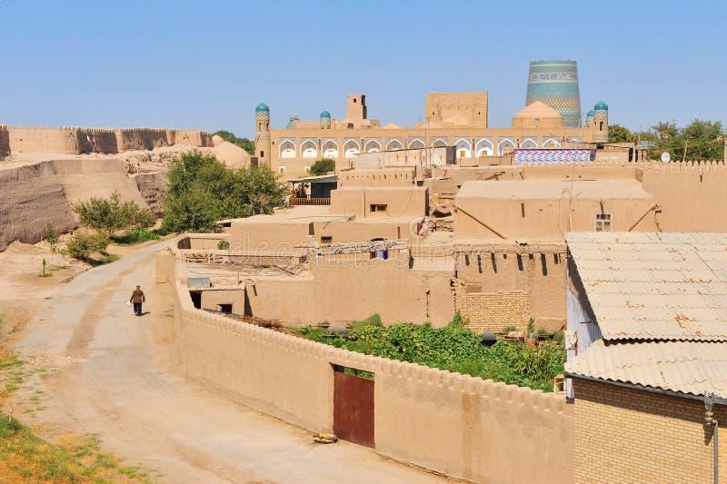 Khiva, città dell'Uzbekistan immagini stock libere da diritti