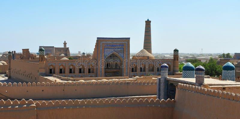 Khiva: città storica dell'Uzbeco fotografia stock