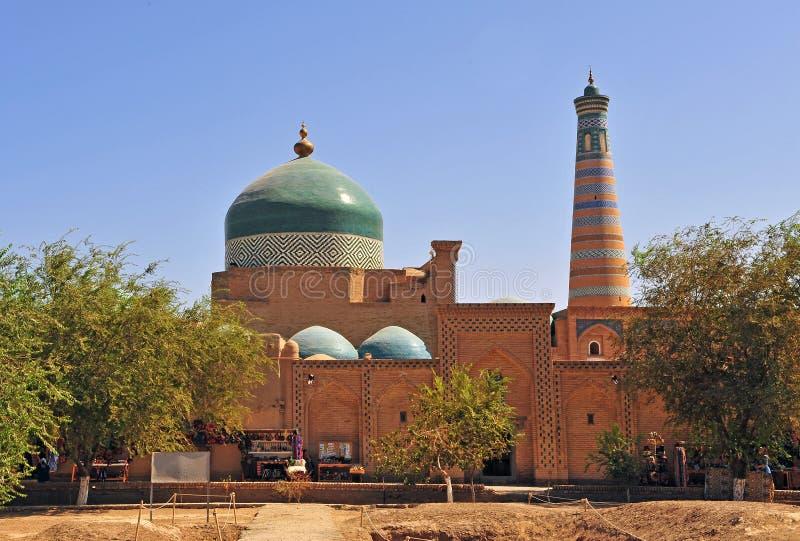 Khiva: cupola e minareto fotografia stock libera da diritti
