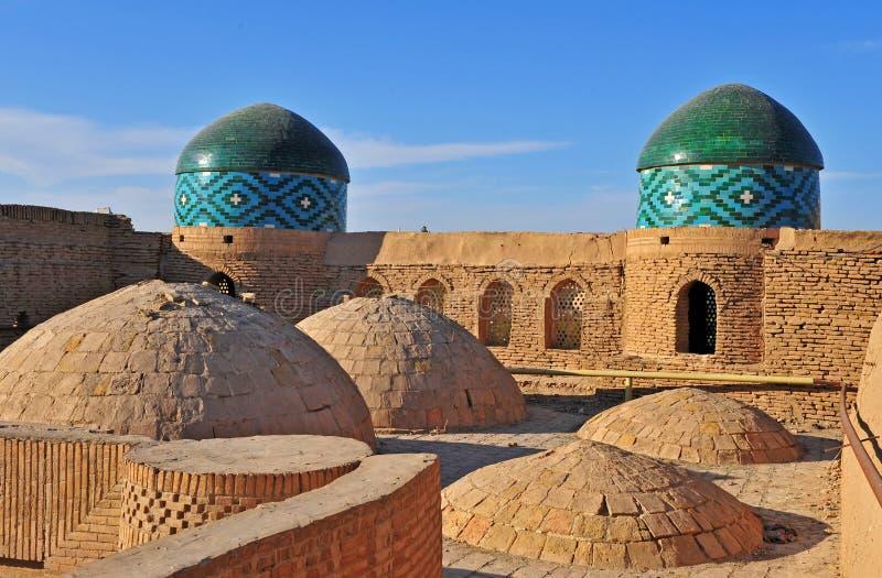 Khiva: cupole di vecchia città fotografie stock