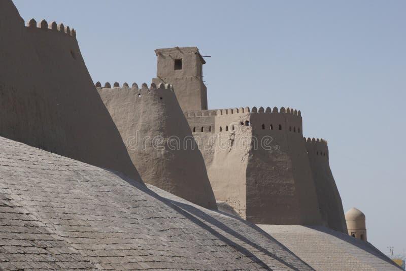 Khiva, de Weg van de Zijde, Oezbekistan stock fotografie
