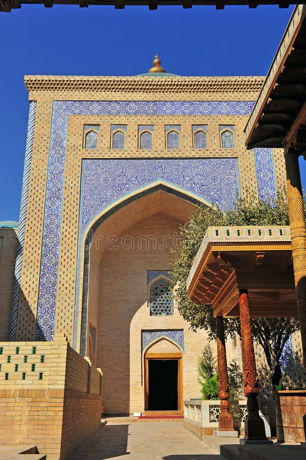 Khiva: entrata alla moschea fotografie stock