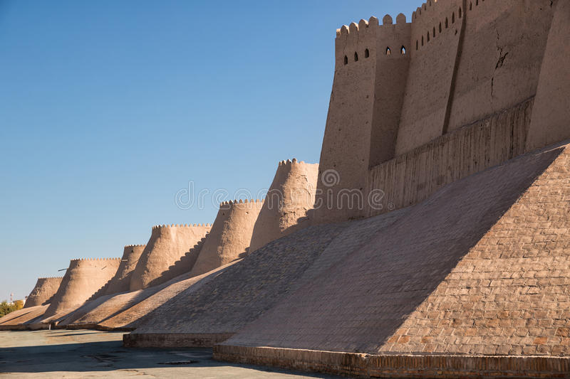 Khiva Fortress Wall stock image