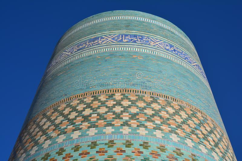 Khiva gammal stad i Uzbekistan arkivfoto