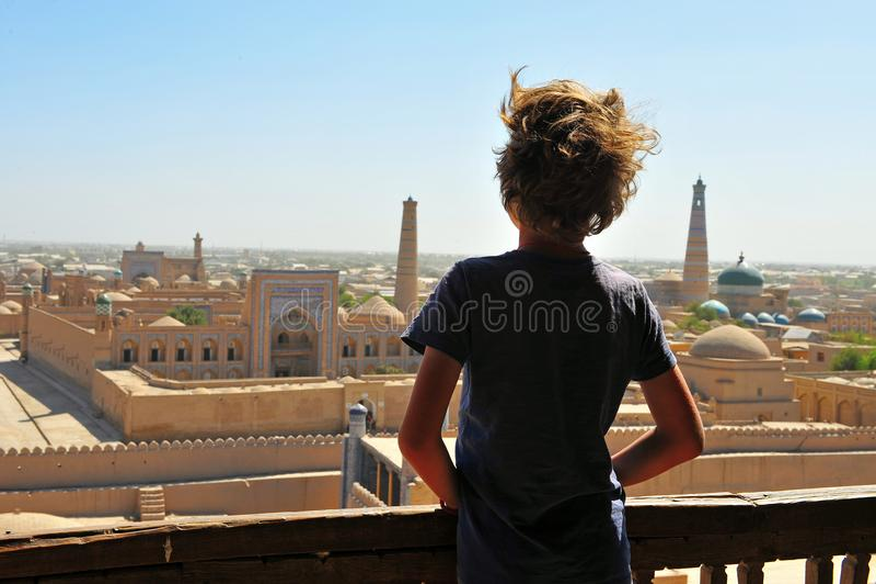 Khiva: guardando da sopra fotografia stock libera da diritti