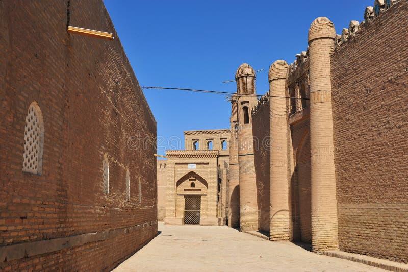 Khiva: i gatan av staden arkivfoton