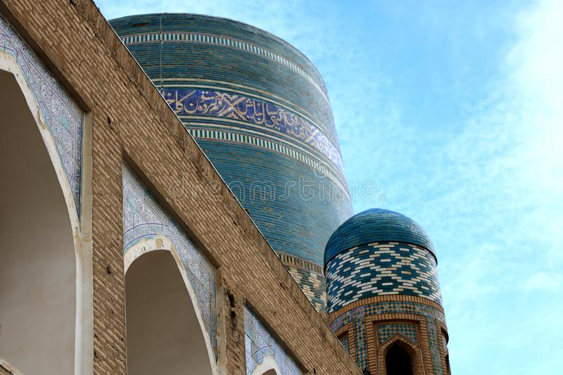 Khiva. Kalta Minor. Uzbekistan. Khiva.Khiva is the former capital of Khwarezmia and the Khanate of Khiva. Itchan Kala in Khiva was the first site in Uzbekistan royalty free stock photos