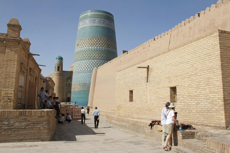 Khiva, l'Ouzbékistan, Asie photos stock